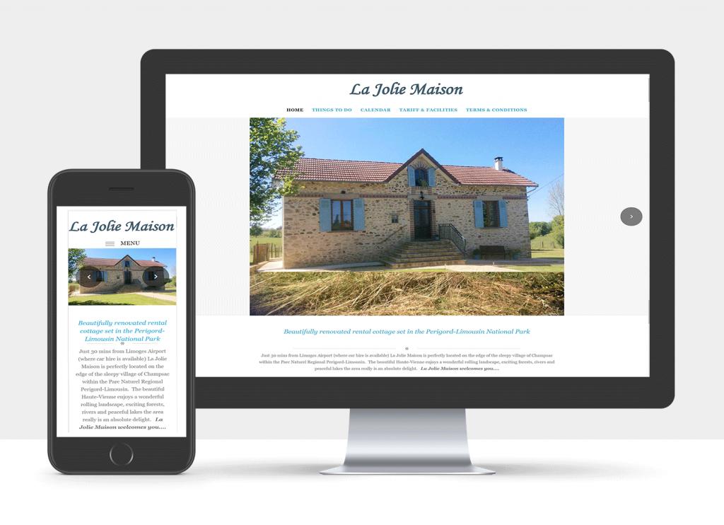 French Gite (holiday rental) website design