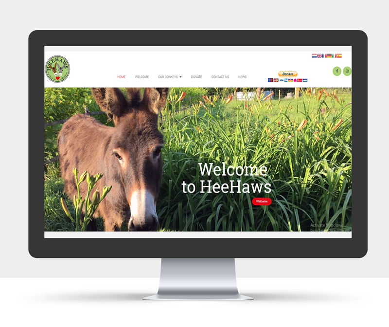Website design charity